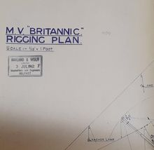 MV Britannic Rigging Plan